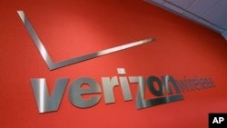 Logo Verizon di salah satu tokonya di Mountain View, California. (Foto: Dok)
