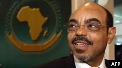 Primeiro Ministro Meles Zenawi (foto 2008)