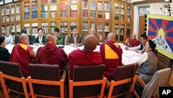 Speaker Penpa Tsering presides over a meeting of the members of the Kashag and the Parliament's StandingCommittee on the upcoming second Tibetan National General Meeting/Photo:TPiE