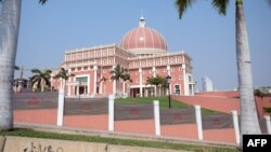 FILE - A view of the National Assembly, in Luanda, Angola.