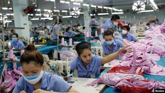 Công nhân tại một xưởng may của Công ty Thành Công ở Tp. Hồ Chí Minh, ngày 09/07/2019.
