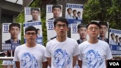 青年新政及本土民主前線立法會選舉後謝票及會見傳媒。(美國之音湯惠芸)