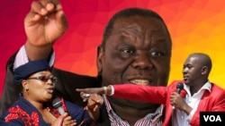 UNkosikazi Thokozani Khuphe, umuyi uMorgan Tsvangirai loMnu. Nelson Chamisa.