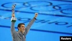 Michael Phelps tại Trung tâm Bơi lội ở Olympic London, 4/8/2012