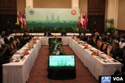Cambodia hosts the four-day 15th ASEAN Ministerial meeting in Siem Reap, Cambodia, on October 7, 2019. (Sun Narin/VOA Khmer)