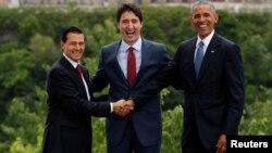 Lideri Meksika (levo), Kanade i SAD u Otavi 29. jun 2016.