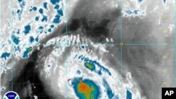Satellite image of Tropical Storm Gert near Bermuda, Aug. 15, 2011 (file photo).