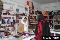 Noor Jahan, the only female shopkeepr, in Sost hopes CPEC will bring development and prosperity to her town.