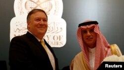 ښاغلی پمپیو د سعودي د بهرنیو چارو له وزیر عادل جبیر سره
