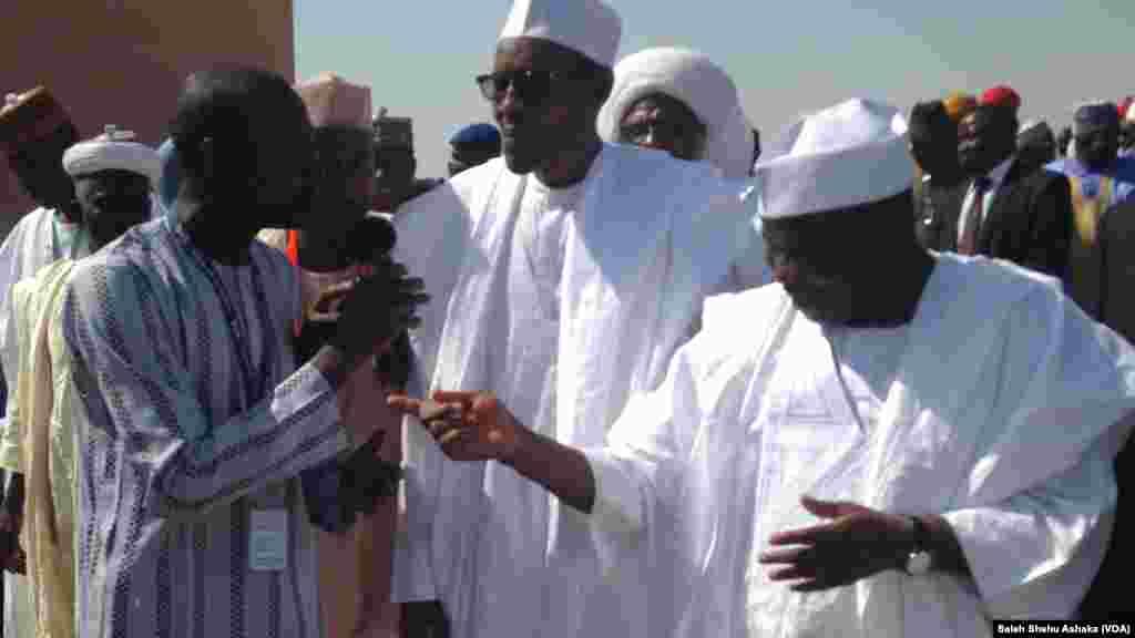 Tsohon shugaban kasar Najeriya Janar Muhammdu Buhari da Kawu Baraje.
