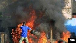 Những người ủng hộ ông Ouattara đã xuống đường biểu tình ở thành phố Abidjan