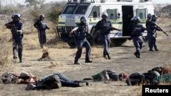 Các thợ mỏ bị cảnh sát bắn chết tại một khu mỏ ở Rustenburg, cách thủ đô Johannesburg khoảng 120 km về hướng tây bắc