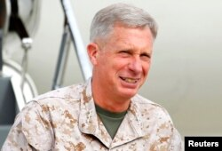 FILE - Marine Corps Lieutenant General Thomas Waldhauser is seen at Camp Pendleton, California, March 30, 2012.