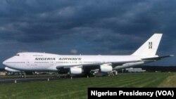 Wani jirgin saman Najeriya na tsohon kamfanin kasar, Nigeria Airways