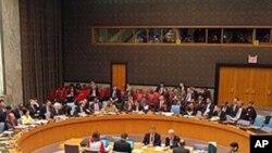 북한 문제를 논의하는 유엔안보리 회의장면