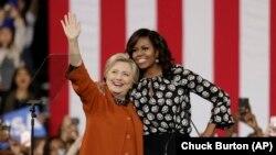 Michelle Obama and Clinton