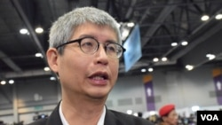 香港中文大學政治與行政學系副教授馬嶽。(美國之音湯惠芸拍攝)