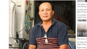 Ông Tấn kể về vụ án (ảnh chụp từ Vietnamnet.net)