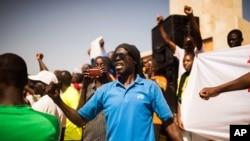 2014年11月2日布基纳法索瓦加杜古: 人们呼吁文职领导过渡