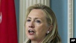 美國國務卿希拉里‧克林頓(資料圖片)