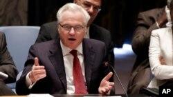 Duta Besar Rusia untuk PBB, Vitaly Churkin (foto: dok).