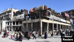 د سوریې حکومتي ځواکونو د پنجشنبې د ورځې راهیسې په حلب ښار کې ځمکنیو او هوایي حملو ته زور ورکړی
