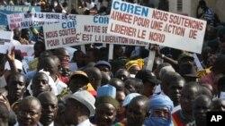 지난 11일 말리 수도 바마코에서 이슬람 점령 북부 지역에 대한 군사 행동을 촉구하는 시위.