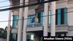 Kantor First Travel di Jl.Radar Auri Depok, tampak sepi setelah polisi menetapkan pemilik First Travel Andhika Surachman dan Anniesa Hasibuan sebagai tersangka penggelapan dana jemaah umrah. (Foto: VOA/Ahadian Utama)