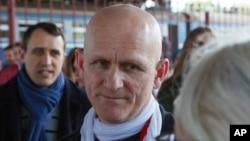 Белорусский правозащитник Алесь Беляцкий (архивное фото)
