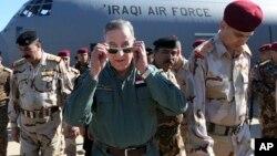 Ministan tsaron Iraqi a tsakiyan sojoji biyu Khaled al-Obeidi