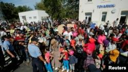 目前滯留在克羅地亞境內的中東難民