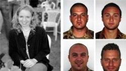راست: چهار سرباز ایتالیایی که در حمله ای در غرب افغانستان جان باختند و امدادگر بریتانیایی که در جریان تلاش برای آزادی اش، به دست ربایندگانش کشته شد