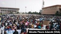 Une marche de l'opposition à Lomé, le 11 mars 2019. (VOA/Ginette Fleure Adandé)