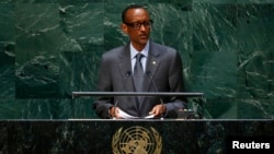 Rwanda president Paul Kagame addresses the 69th United Nations General Assembly at the U.N. headquarters in New York September 24, 2014.