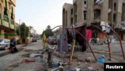 Lokasi serangan bom mobil di Baghdad hari Minggu (2/11).