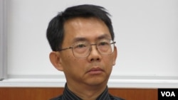 政治大学东亚所教授 寇健文(美国之音 张永泰拍摄)
