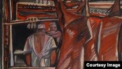 Э.Гороховский. «Мясо». 1965. Акварель на бумаге. Courtesy: Kolodzei Art Foundation