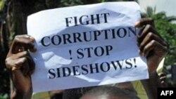 肯尼迪民众抗议腐败