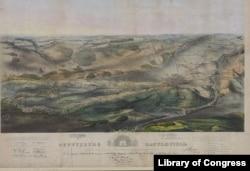 Gettysburg Battlefield map
