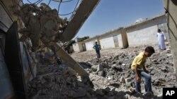 Разрушенная сирийской авиацией школа (архивное фото)