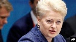 立陶宛总统格里鲍斯凯婕(资料照片)