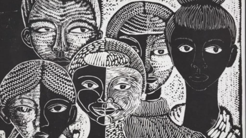 Art in the kinsey collection includes this 1990 woodcut the faces of my people