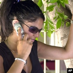 A Lebanese university student sneaks a quick telephone call to her family in Beirut (File)