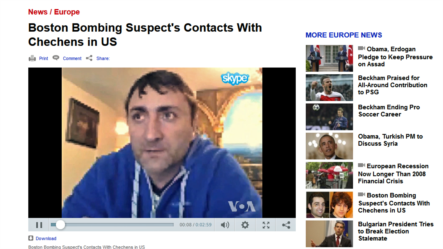 Former Chechen rebel Musa Khadjimuradov talks to VOA about his meetings with Boston Bombing suspect Tamerlan Tsarnaev.