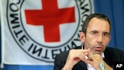 ICRC ႏုိင္ငံတကာၾကက္ေျခနီအဖြဲ႔ရဲ႕ ႏုိင္ငံတကာ လုပ္ငန္းမ်ားဆုိင္ရာ ညြႊန္ၾကားေရးမွဴး Dominik Stillhart။