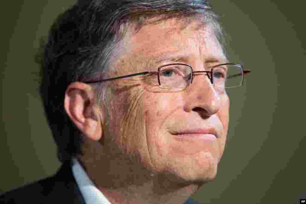 Pendiri Microsoft Bill Gates, usia 57, kekayaan bersih US$67 miliar.