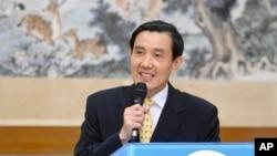 马英九总统在松山军用基地举行记者会澄清美联社报导