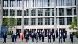 28 Ağustos 2020 - Berlin'de bir araya gelen Avrupa Birliği ülkeleri dışişleri bakanları