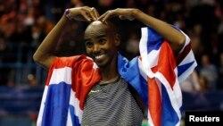 """Pelari Inggris, Mohamed """"Mo"""" Farah, peraih medali emas dalam cabang 5.000 dan 10 ribu meter dalam dua olimpiade terakhir (foto: dok)."""