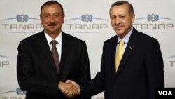Azərbaycan prezidenti İlham Əliyev və Türkiyə prezidenti Rəcəb Təyyub Ərdoğan